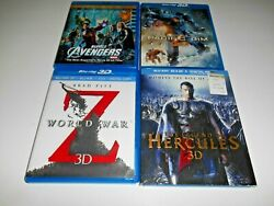 Marvels The Avengers Blu-ray 3d Blu-ray Dvd 4-disc Set + Three More 3d Movies