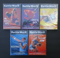 5 Kettleworx Dvds Fitness Exercise Workouts Butt Chest Hips Core Etc Sealed New
