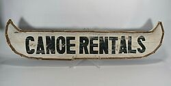 Canoe Rentals --rustic Wood Sign/cabin/lodge/log Home Décor - 45 Inches