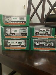 Collection Of 5 Hess Mini Truck 2006, 2008, 2012, 2013,and 2014