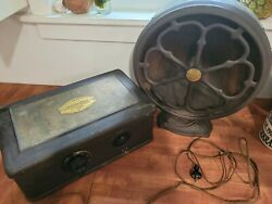 Vintage Atwater Kent Tube Breadbox Radio Model 40 And Round E3 Speaker Complete