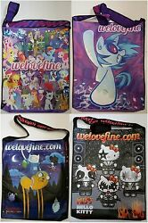 Sdcc Comic Con 2015 Welovefine Bag Adventure Time My Little Pony Hello Kitty