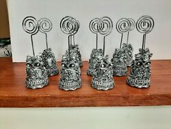 Wedding Place Table Number Name Card Holders Photo Stand Silver Bells 11 Piece