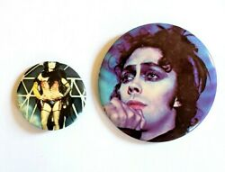 Vintage Theandnbsprocky Horror Picture Show Movie Promo Button Set 1 - Tim Curry Pinandnbsp