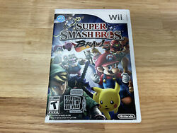 Super Smash Bros Brawl Nintendo Wii Game Complete W/ Manual Tested And Works Cib