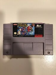 Marioand039s Time Machine Super Nintendo Snes Game Tested + Working And Authentic