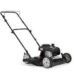 Push Mower 20 In 125 Cc Gas Walk Behind Adjustable Cutting Height Manual Outdoor