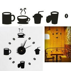 Living Room Wall Clock Sticker Decor Hot Large Number Office Room Art Decal NEW