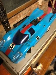 Vintage Scalextric Like Porsche 917 Blue Color Display Car Collectible🔥🔥