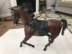 Vintage Marx Johnny West Brown Articulated / Movable Horse W/ Saddle Vg