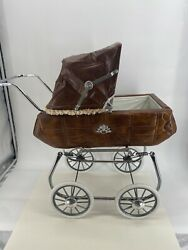 Vintage Quilted Baby Doll Crown Carriage Stroller