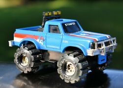 Vintage SCHAPER STOMPER CHEVY BLUE LUV TRUCK 4x4 Battery Operated Toy 1980s RARE