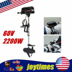 60v 2200w Hangkai Electric Outboard Motor Heavy Duty Brushless Boat Engine New