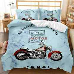 Motorcycle Of The 20th Century 3d Quilt Duvet Doona Cover Set Pillow Case Print
