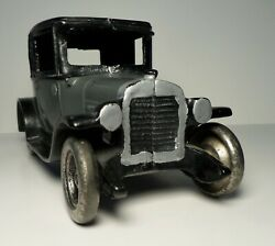 Vintage Cast Iron Two Tone Black And Grey Arcade Chevrolet Coupe 8.25