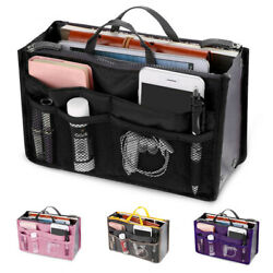 Large Capacity Multifunction Bag Travel Cosmetic Insert Pouch Toiletry Storage $9.34