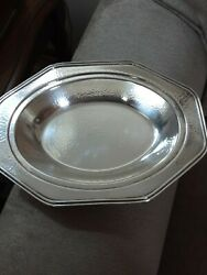 Apollo Bernard Riceandrsquos Sons Hammered Silverplate Hors Dandrsquooeuvres Serving Tray Dish
