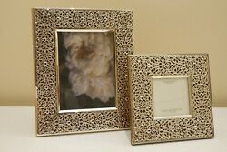 Del Conte Sterling Silver 5 X 7 And 3 X 3 Picture Frames