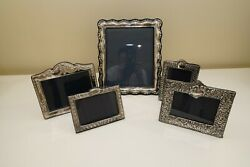 Sterling Silver Picture Frames Set Of 5
