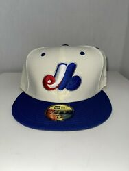 New Era Hat Club Ivory Collection, Montreal Expos Size 7 3/4
