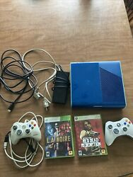 Microsoft Xbox 360 E Special Edition Blue/teal 500gb Blue Console Tested Read
