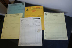 Lot 1946 Indian Motorcycle Internal Sales Parts Order Forms 1 Completed Order