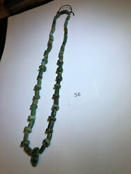 Pre Columbian Mayan Authentic Jade Beads 58 Pieces Jade One Low Price 16 L