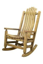Farmhouse Rustic Porch Rocker Solid Wood Outdoor Rocking Chairs Amish Made