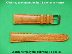 0 25 32in strap Alligator Real Brown Ocher 0 5 8in With The Loop Top Quality