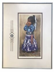 A Day At The Fair Navajo Girl By Ray Swanson Signed Western Art Print Framed