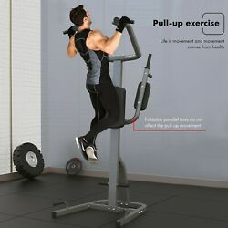 Dip Station Chin Up Bar Core Power Tower Pull Push Home Gym Fitness Tool Usa