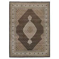 8and0398x12and0392 Tebraz Mahi Fish Medallion Design Wool And Silk Hand Knotted Rug G63322