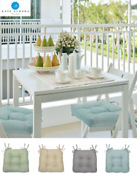 Solid Colored Country Farmhouse Chair Cushions With Ties - Assorted Colors