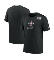 Nike New Orleans Saints Crucial Catch Cancer Prevention Shirt Mens Large New