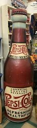 Very Rare Pepsi-cola Famous For Over 30 Years Large Cabinet Knick Knack Shelf