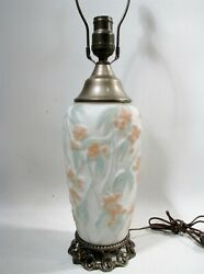 Antique Consolidated Phoenix Glass Bittersweet Table Lamp Art Deco
