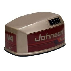Johnson Brp / Omc 115 V4 Bronze / Red Outboard Boat Motor Top Cowling / Hood