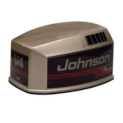 Johnson Brp / Omc 115 V4 Pewter / Black Outboard Boat Motor Top Cowling / Hood