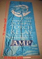 Sydney 2000 Olympic Torch Relay Banner 75 Inches Tall By 30 Inches Wide Logo