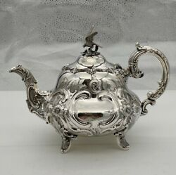 Antique Victorian Sterling Silver Teapot London 1845 A B Savory And Sons