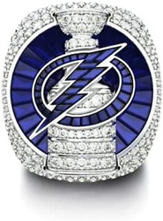 2020 Stanley Cup Tampa Bay Lightning Victor Hedman Replica Ring Nhl Silver