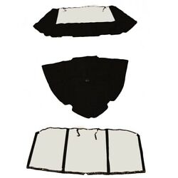 Glastron Boat Bow Cover | 225 Gt Aft Connector Curtain Black 3pc