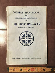 Vintage Piper Tri-pacer Pa-22-150 Ownerand039s Handbook