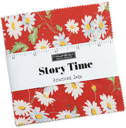 Story Time Moda Charm Pack 42 100 Cotton 5 Precut Fabric Quilt Squares