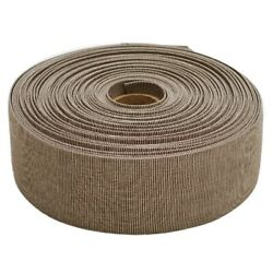 Carver Boat Poly Mesh Binding   2 1/2 Inch X 65 Ft White Brown Roll