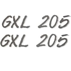 Glastron Gxl 205 7 Inch Charcoal And Mirror Boat Decal / Sticker Pair
