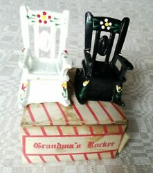 Grandma's Rockers New Old Stock Rocking Chairs Salt And Pepper Shakers Metal