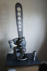 Complete Vintage 1949 Power Machinery D118 Wood Boss Vtg Logging Chainsaw Saw