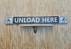 Unload Here/carved/rustic/wood/sign/ski Cabin Sign/lodge/décor/ Snow Skiing