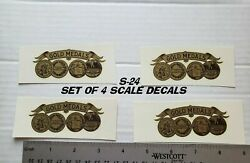 4 Gold Medals Antique Scale And Coin Machine Decals S-24 Small 3 1/4 Gold